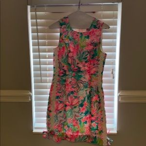 Lily pulitzer tank dress. Zipper on back